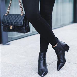 Acne Studios Black Grain Leather Jensen Boots